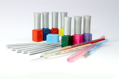 The nails art tools Stock Photos