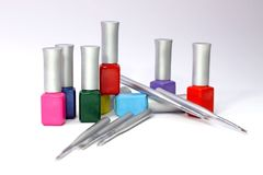 The nails art tools Royalty Free Stock Photos