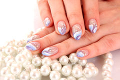 Nails with beautiful Royalty Free Stock Images