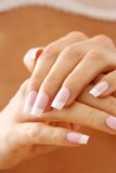 Nails care. Female hands Royalty Free Stock Photo