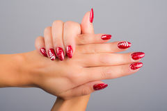 Nails and Christmas Royalty Free Stock Photo