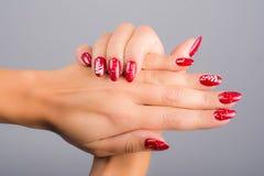 Nails and Christmas Royalty Free Stock Image