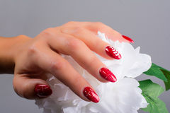 Nails and Christmas Royalty Free Stock Photos