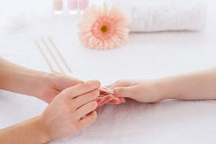 Nails cleaning. Stock Photos