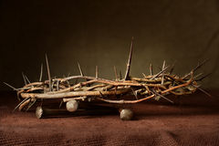 Nails and Crown of Thorns Royalty Free Stock Images