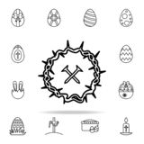 Nails and crown of thorns icon. Easter icons universal set for web and mobile royalty free illustration
