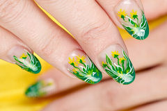 Nails decoration Stock Photo