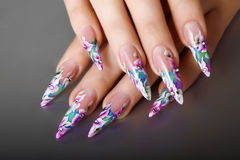Nails  design. Royalty Free Stock Photo