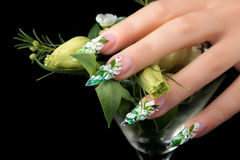 Nails  design. Stock Image