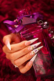 Nails and elixir bottle Stock Images