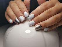 NAILS. GEL, hand, NAILS, manicure, gel polish stock photography
