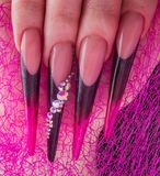 Nails and hands Royalty Free Stock Photos