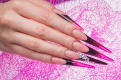 Nails and hands Royalty Free Stock Image