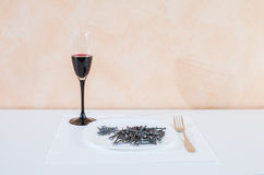 Nails lying on the plate.serving Royalty Free Stock Photo