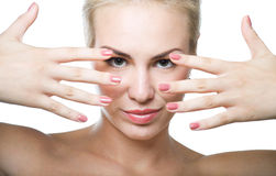 Nails and makeup Royalty Free Stock Photography