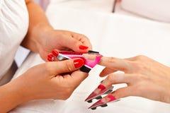 Nails manicure Stock Photo