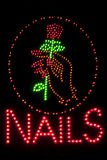 Nails neon sign Stock Photography