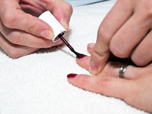 Nails painting Stock Photography