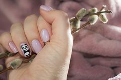 Smile and wave - cute manicure Stock Photo