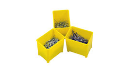 Nails in plastic box Royalty Free Stock Image