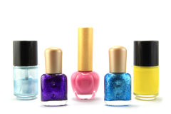 Nails polish. Many nails polish on white background Stock Images