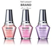 Nails polish product packaging Vector mock up. Realistic tube. place for text vector illustration