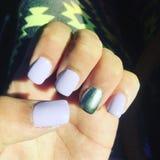 Nails. Purple cute classy sassy Stock Image