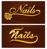 Nails saloon symbol Stock Image