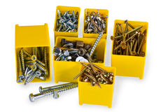 Nails and screws Stock Photography
