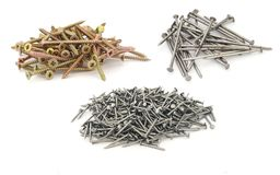 Nails and screws collection Stock Photography