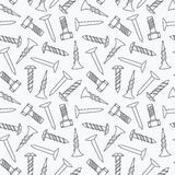 Nails and screws seamless pattern Royalty Free Stock Photo