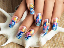 Nails sea design. Stock Images