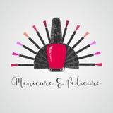 Nails vector logo Stock Photography