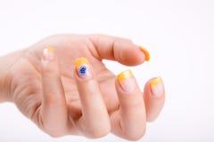 Nails on white royalty free stock photos