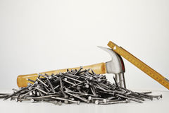Nails on white background Royalty Free Stock Image