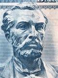 Naim Frasheri-portret van Albanees geld royalty-vrije stock afbeeldingen
