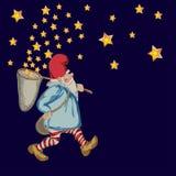 Nain avec des étoiles Photos libres de droits