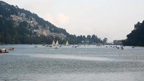 Naini Lake at Nainital stock footage