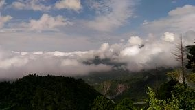 Nainital Timelapse from Land`s End. stock video footage
