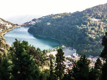 Nainital. View of Nainital Lake, Uttarakhand, India Stock Photo