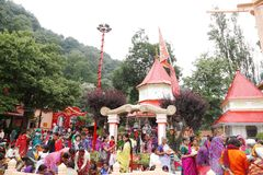 Nainital was named after Naina Devi Temple Stock Images