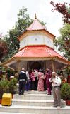 Nainital werd genoemd na Naina Devi Temple Royalty-vrije Stock Afbeelding