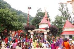 Nainital werd genoemd na Naina Devi Temple Stock Afbeeldingen