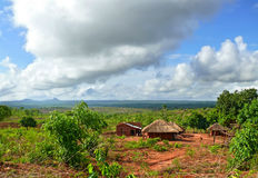 NAIOPUE, MOZAMBIQUE - DECEMBER 7, 2008: the Settlement. A reside Royalty Free Stock Image