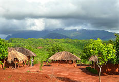 NAIOPUE, MOZAMBIQUE - DECEMBER 7, 2008: the Settlement. A reside Stock Photo