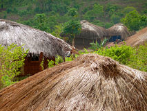 NAIOPUE, MOZAMBIQUE - DECEMBER 7, 2008: the Settlement. A reside Royalty Free Stock Images