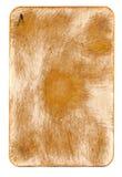 Naipe frotado antiguo del fondo del papel del as Imágenes de archivo libres de regalías