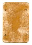 Naipe usado antiguo del fondo de papel de los clubs aislado Foto de archivo