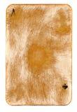 Naipe usado frotado antiguo del fondo del papel del as Imágenes de archivo libres de regalías