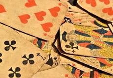 Naipes foto de archivo libre de regalías